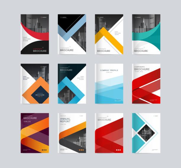 abstrakcyjny szablon tła projektu okładki dla profilu firmy, raport roczny, broszury, ulotki, prezentacje, czasopisma i książki - broszura stock illustrations