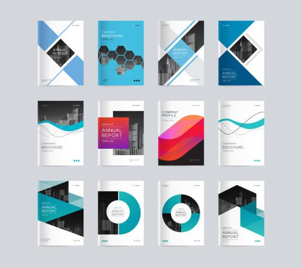 Abstrakte Cover-Design Hintergrundvorlage für Firmenprofil, Geschäftsbericht, Broschüren, Flyer, Präsentationen, Magazin und Buch – Vektorgrafik