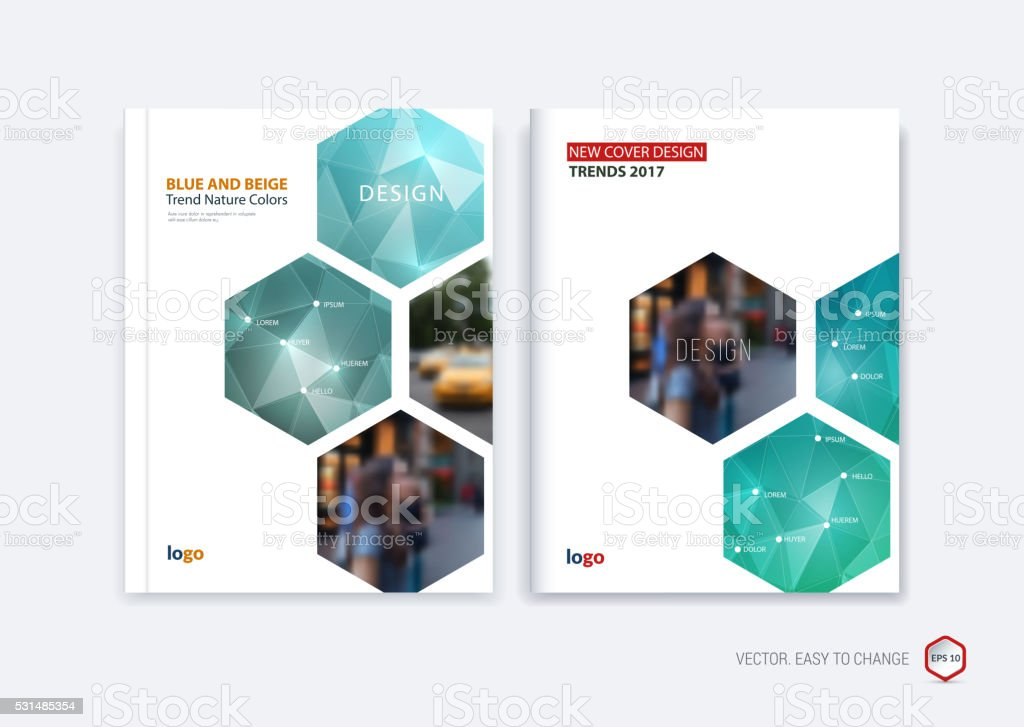 Business Book Cover Art ~ Abstract cover design business brochure template layout