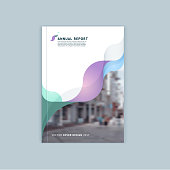 Abstract cover design, business brochure template.