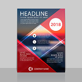 Abstract cover design for annual report. Can be used for flyer, cover, booklet or magazine.