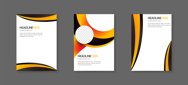 Abstract cover design template for brochure, flyer, magazine ,annual report, and presentation. vector for editable. stock illustration