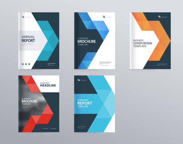 illustrazioni stock, clip art, cartoni animati e icone di tendenza di abstract cover design template for brochure, flyer, magazine ,annual report, and presentation . vector for editable. - rapporto