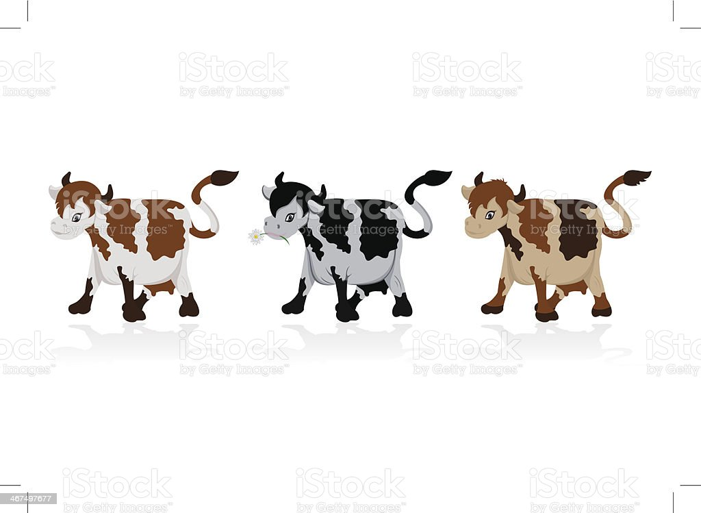 Abstract cow collection royalty-free stock vector art