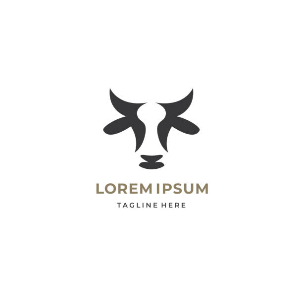 Abstract cow or bull logo design. Creative steak, meat or milk icon symbol. Abstract cow or bull logo design. Creative steak, meat or milk icon symbol. horned stock illustrations