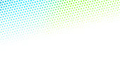 Abstract creative gradient halftone dot background. Vector illustration.
