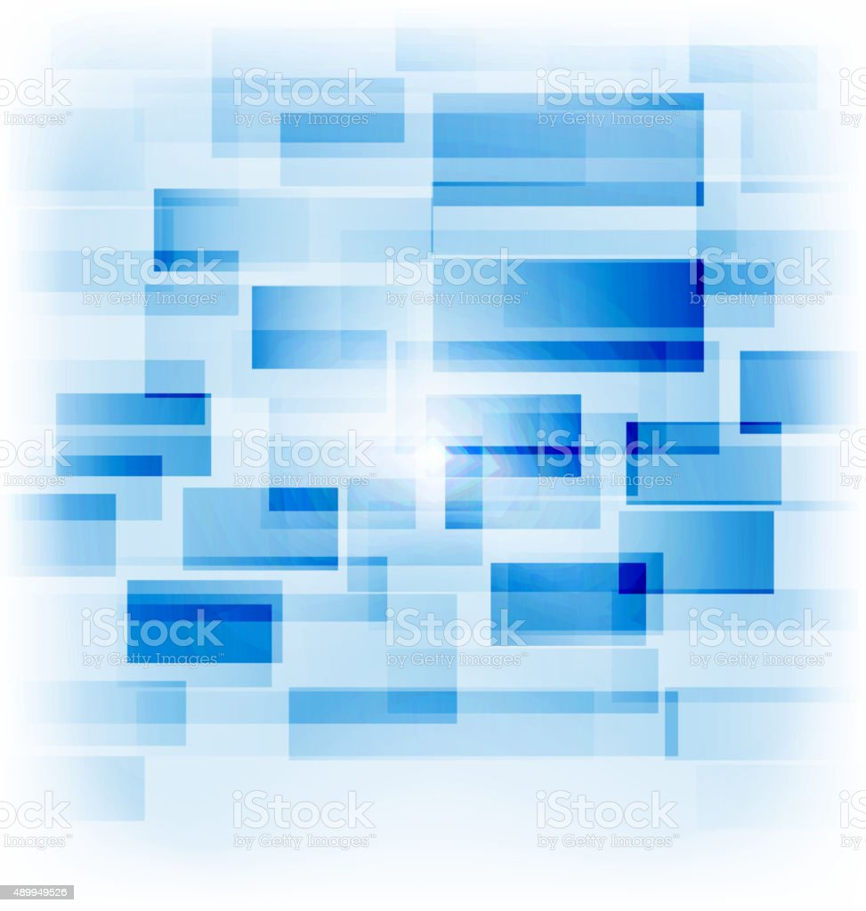 Abstract creative background with transparent squares vector art illustration
