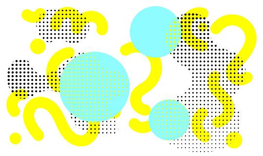 Abstract creative banner, vector background pop art design trendy 80s-90s memphis style.