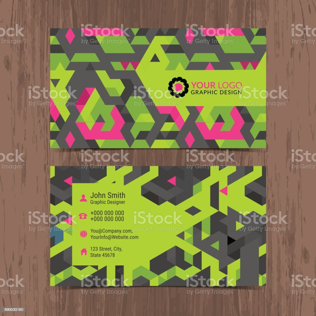 Abstract Creative Business Card Design Layout Template With ...