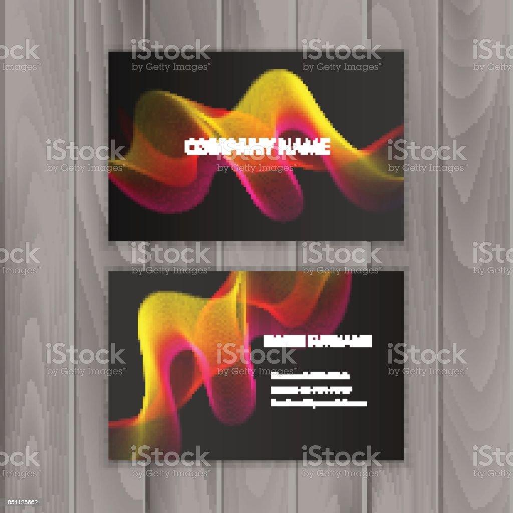 Cartes De Visite Creatives Abstraites Sur Fond Sombre Vecteur Eps 10