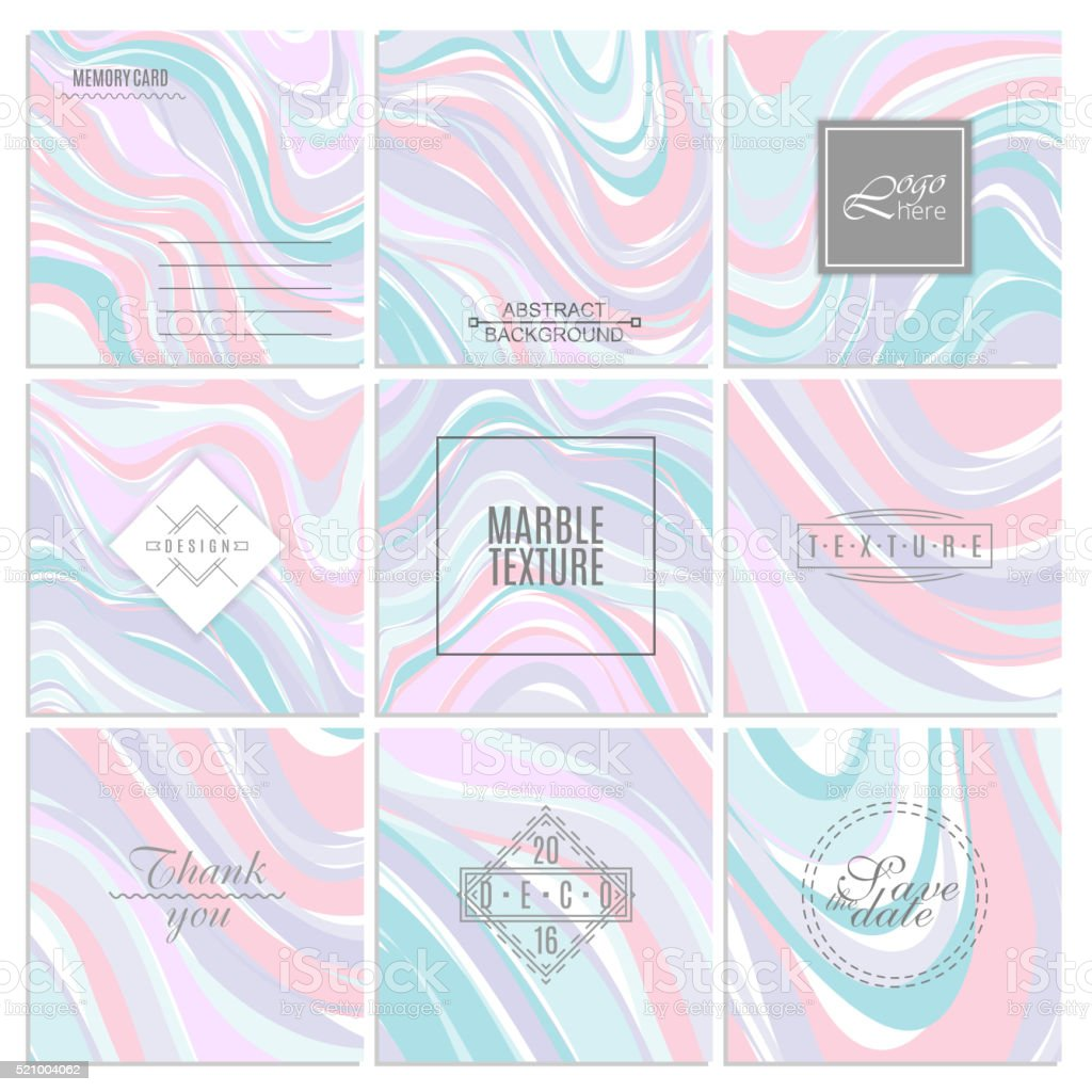 Abstract creative card templates. Weddings, menu, invitations, birthday, business cards vector art illustration