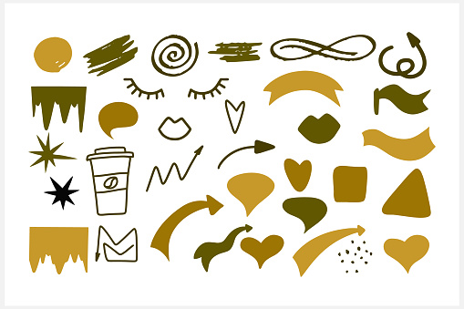 Abstract creative clipart isolated. Vector stock illustration. EPS 10