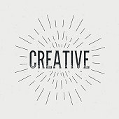 Abstract Creative concept design background with text. Vector illustration art template, retro elements.