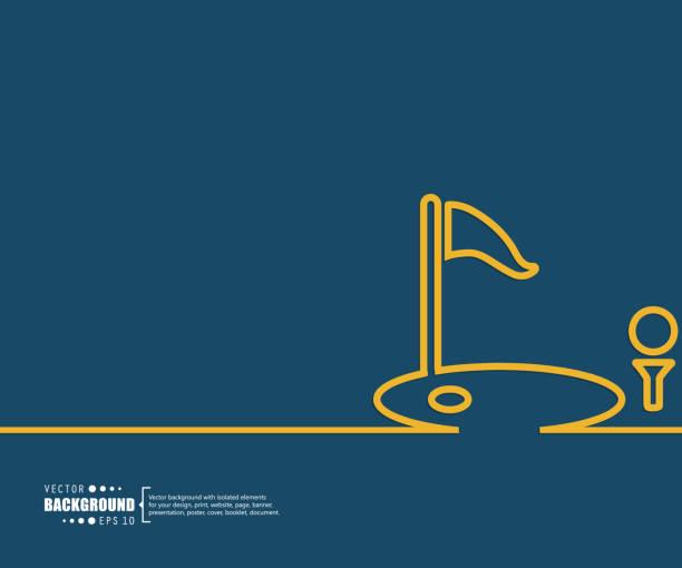 ilustrações, clipart, desenhos animados e ícones de resumo de fundo vector conceito criativo para aplicações web e mobile, design de modelo de ilustração infográfico de negócios, página, folheto, banner, apresentação, livreto, documento. - golfe
