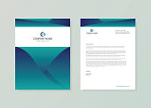 Abstract creative letterhead design