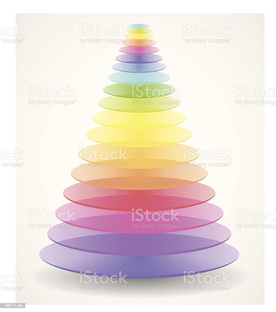 Abstract creative pyramid royalty-free stock vector art