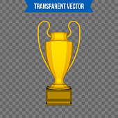 Abstract creative trophy cup. Isolated mockup on background. Isometric 3D style template. For web and mobile app clipart art. Concept idea design element. Vector illustration infographics theme.