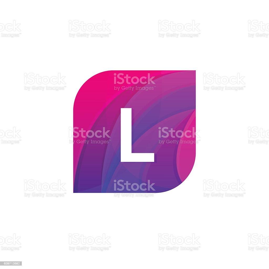 ilustração de abstract creative web icon company l sign letter logo
