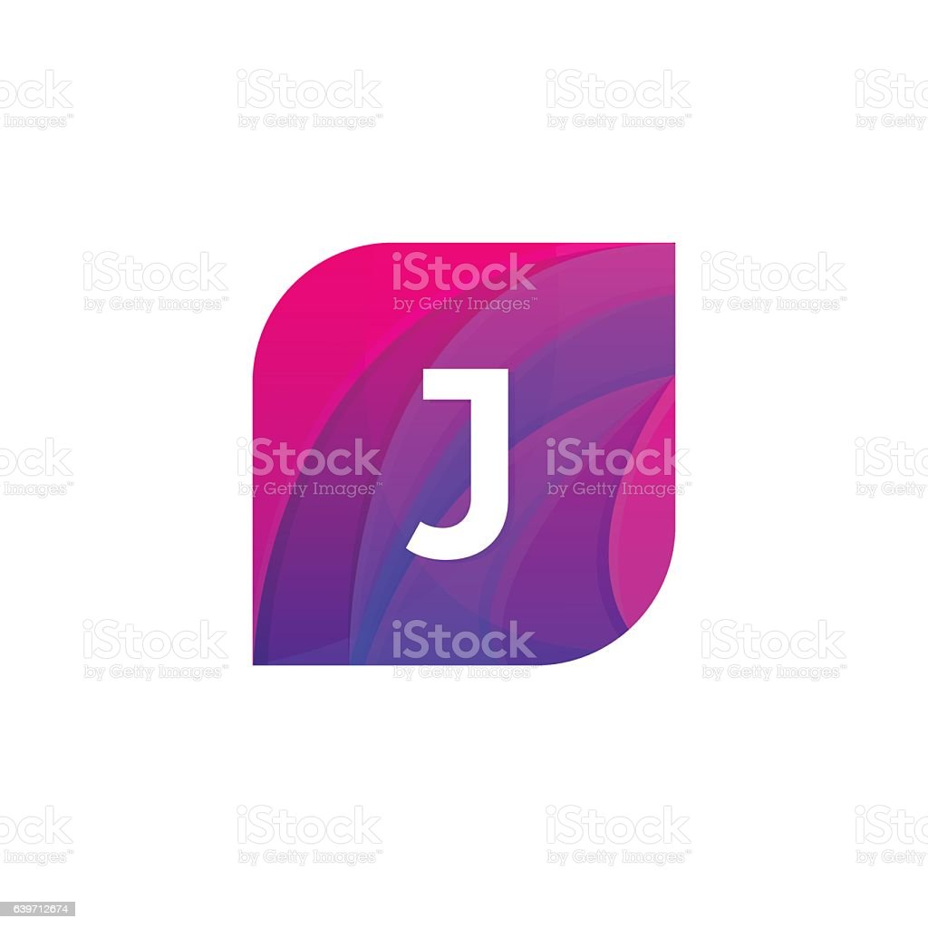 Abstract creative web icon company J sign letter logo vector art illustration