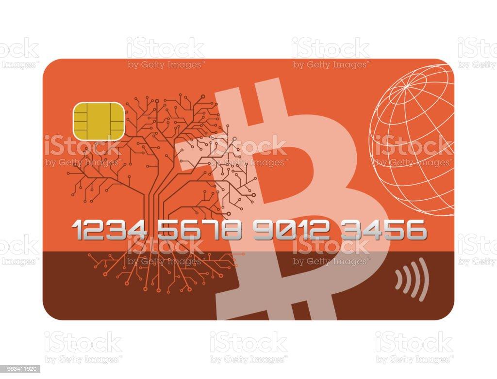 Abstract credit card, bitcoins - Grafika wektorowa royalty-free (Abstrakcja)