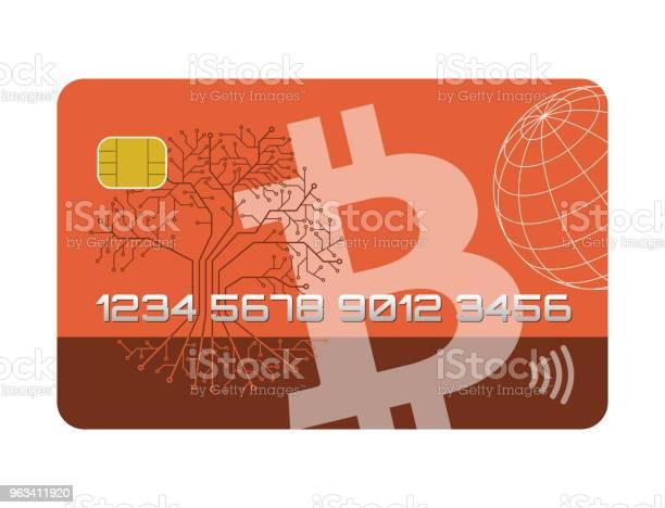 Abstrakcyjna Karta Kredytowa Bitcoiny - Stockowe grafiki wektorowe i więcej obrazów Abstrakcja