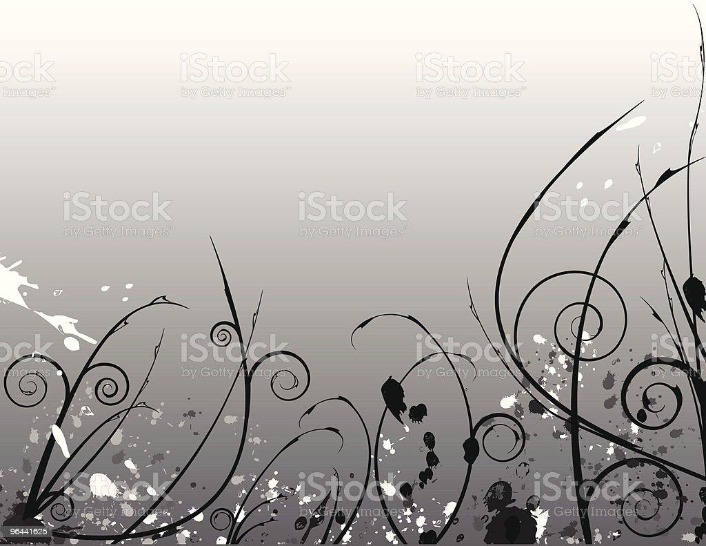 Abstract Creepy Flora royalty-free stock vector art