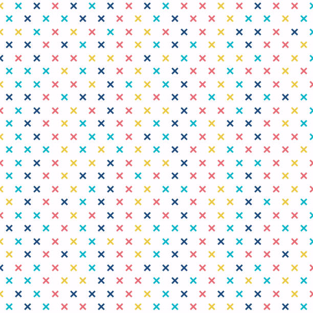 abstract cross pattern colorful on white background. geometric retro plus signs. - alphabet backgrounds stock illustrations
