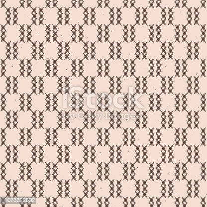 Abstract Crosses Grid Rustic Texture Seamless Vector Pattern. Hand Drawn Criss ross Background Illustration for Trendy Home Decor, Masculine Fashion Prints, Wallpaper, Textiles. Natural Brown.