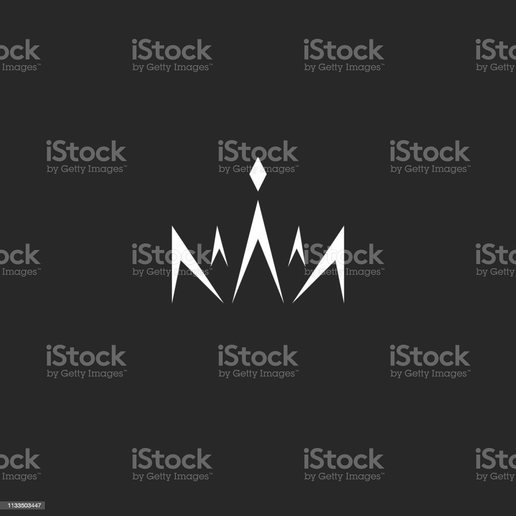 Abstract Crown In The Style Monogram Black And White Lines Logotype With The Tiara Gem Princess Or Beauty Queen Stock Illustration Download Image Now Istock