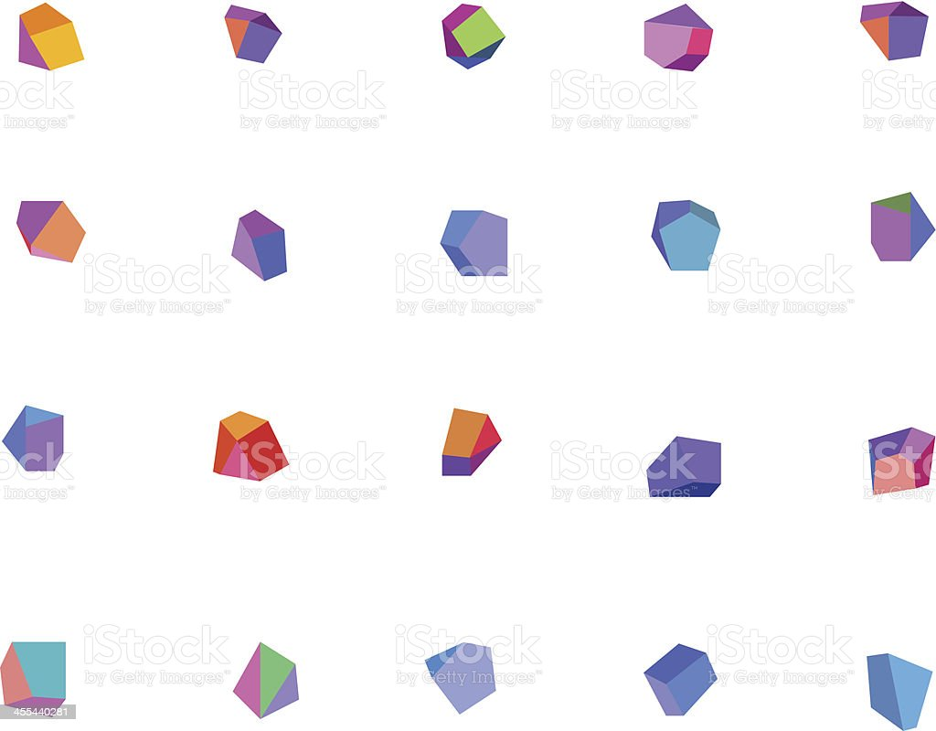 Abstract Crystals vector art illustration