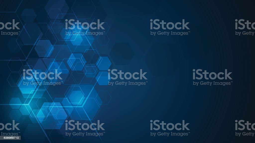 abstract cube hexagon shape pattern innovative concept background vector art illustration