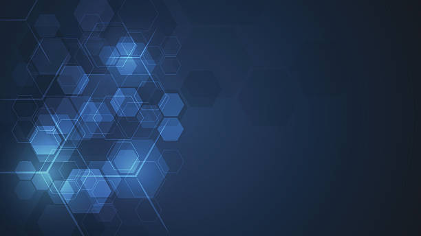 abstract cube hexagon shape pattern innovative concept background vector art illustration