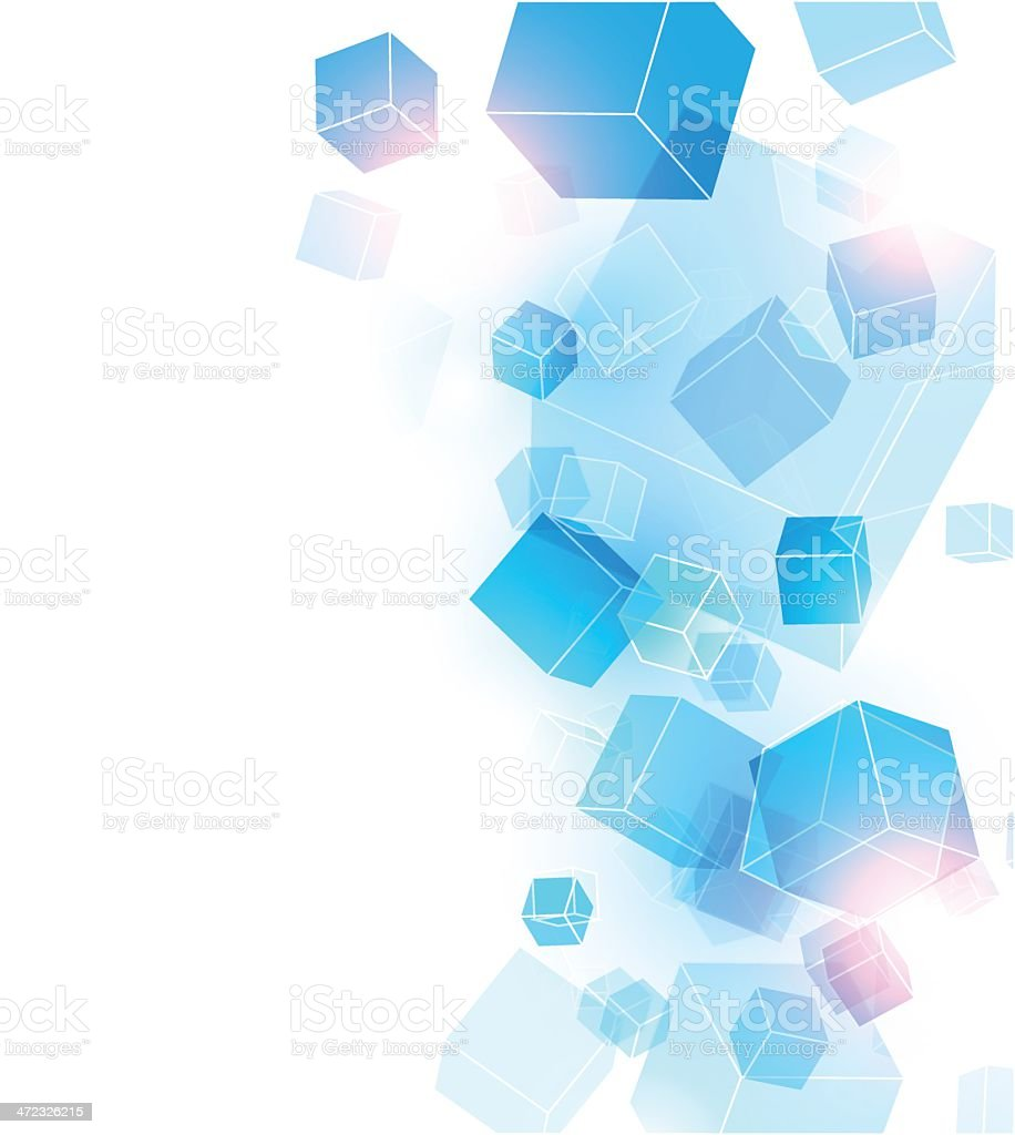 Abstract cubes background royalty-free stock vector art