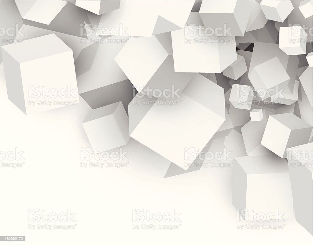 Abstract cubes vector art illustration