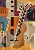 Abstract cubist music