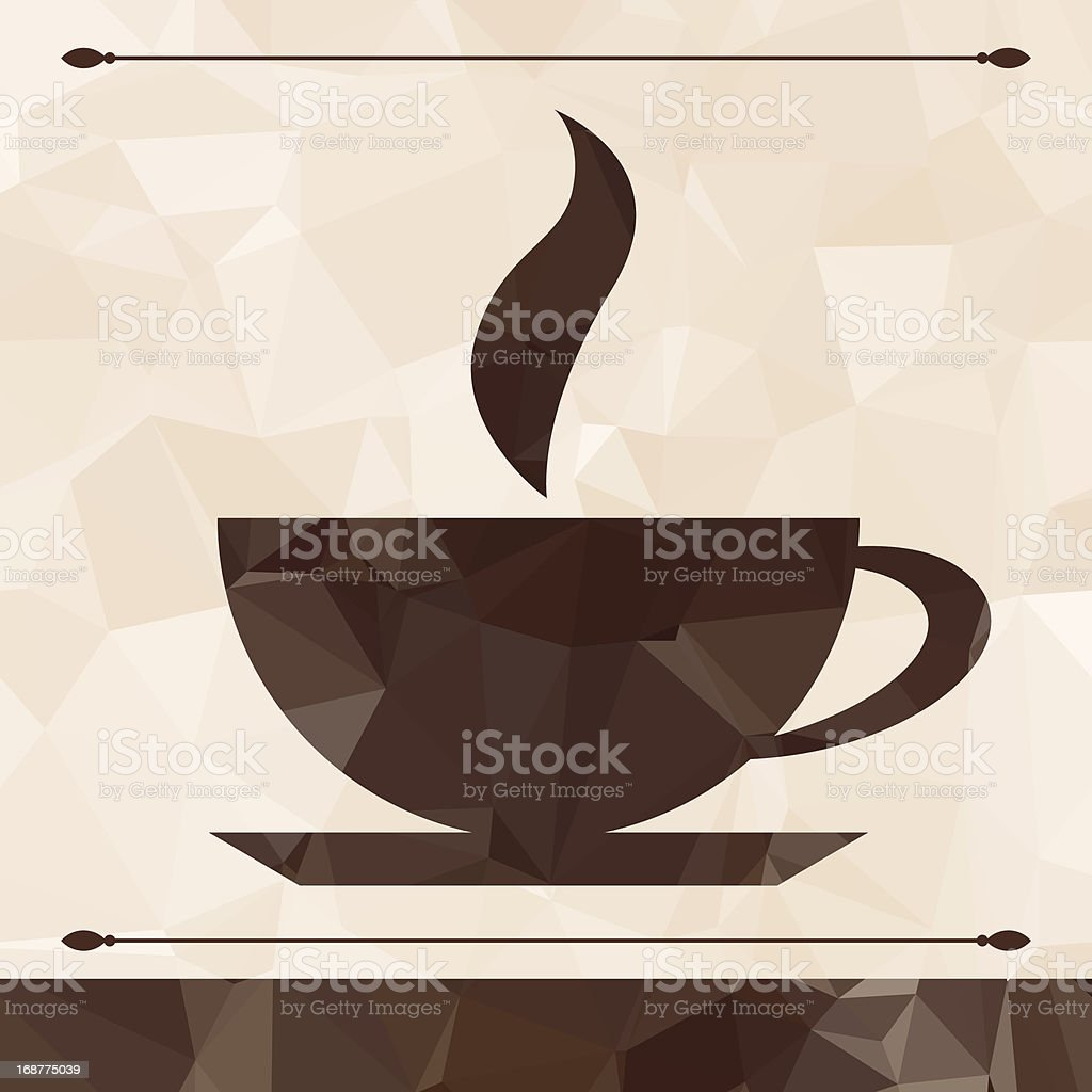 Abstract cup of coffee on a geometric background. royalty-free stock vector art