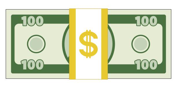 Abstract currency illustration Illustration of the abstract cartoon currency american one hundred dollar bill stock illustrations