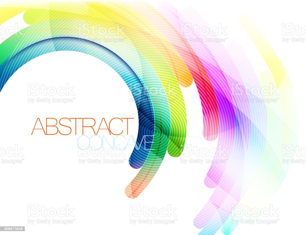 Abstract curve scene vector art illustration
