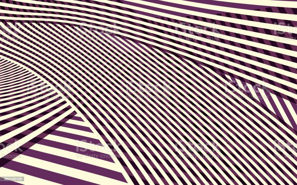 Abstract Curve Stripe Pattern - Grafika wektorowa royalty-free (Abstrakcja)