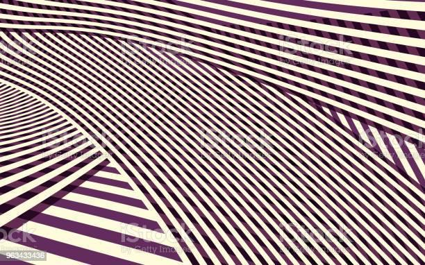 Abstrakcyjny Wzór Rozłożony Krzywej - Stockowe grafiki wektorowe i więcej obrazów Nowy Jork