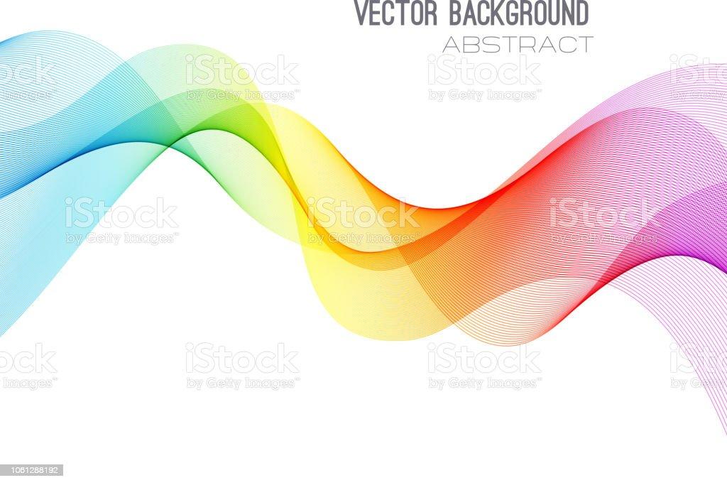 曲線の背景を抽象化します。テンプレートのパンフレットのデザイン ベクターアートイラスト