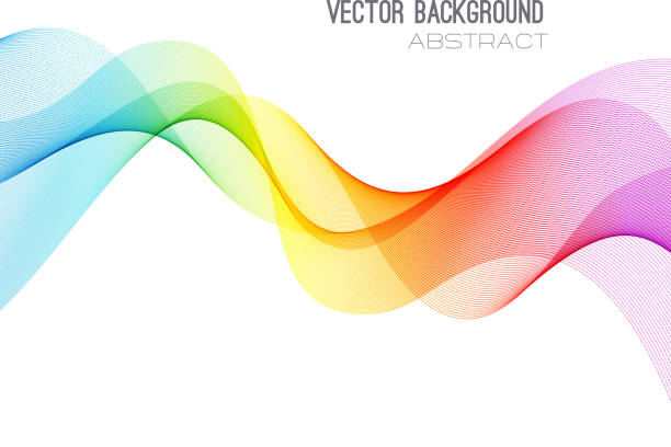 ilustrações, clipart, desenhos animados e ícones de abstrato base de linhas curvas. modelo de design de brochura - molduras de certificados e premiações