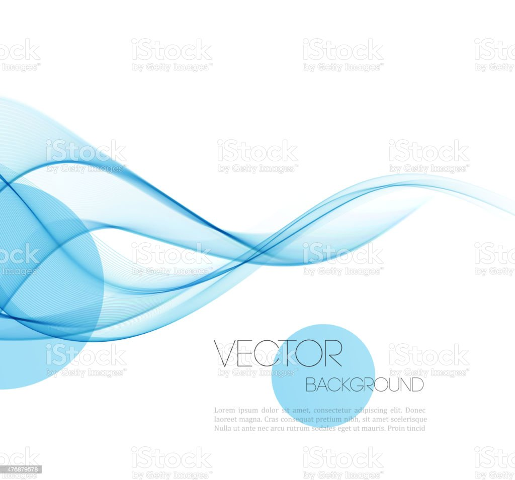 Abstract curved lines background. Template brochure design vector art illustration