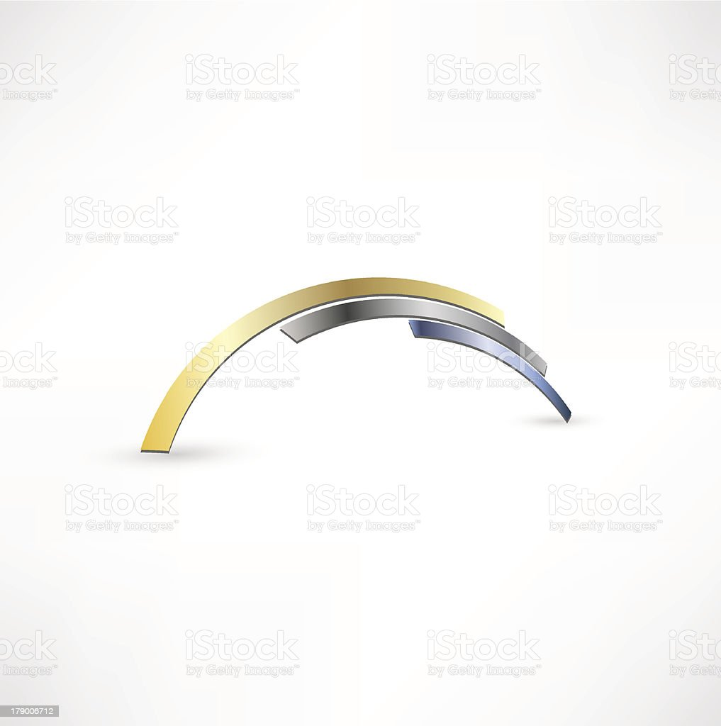 Abstract Curved Shapes vector art illustration