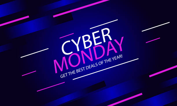 abstract cyber monday background - cyber monday stock illustrations