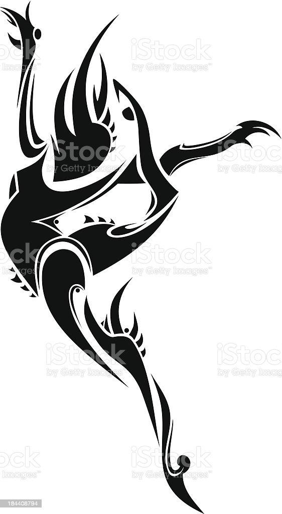 Abstract dancer royalty-free stock vector art