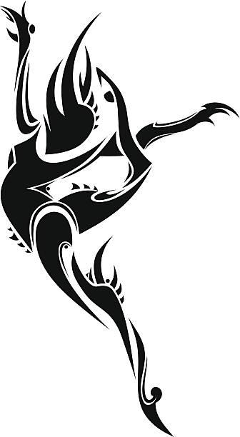 abstrakte-tänzer - spagat stock-grafiken, -clipart, -cartoons und -symbole