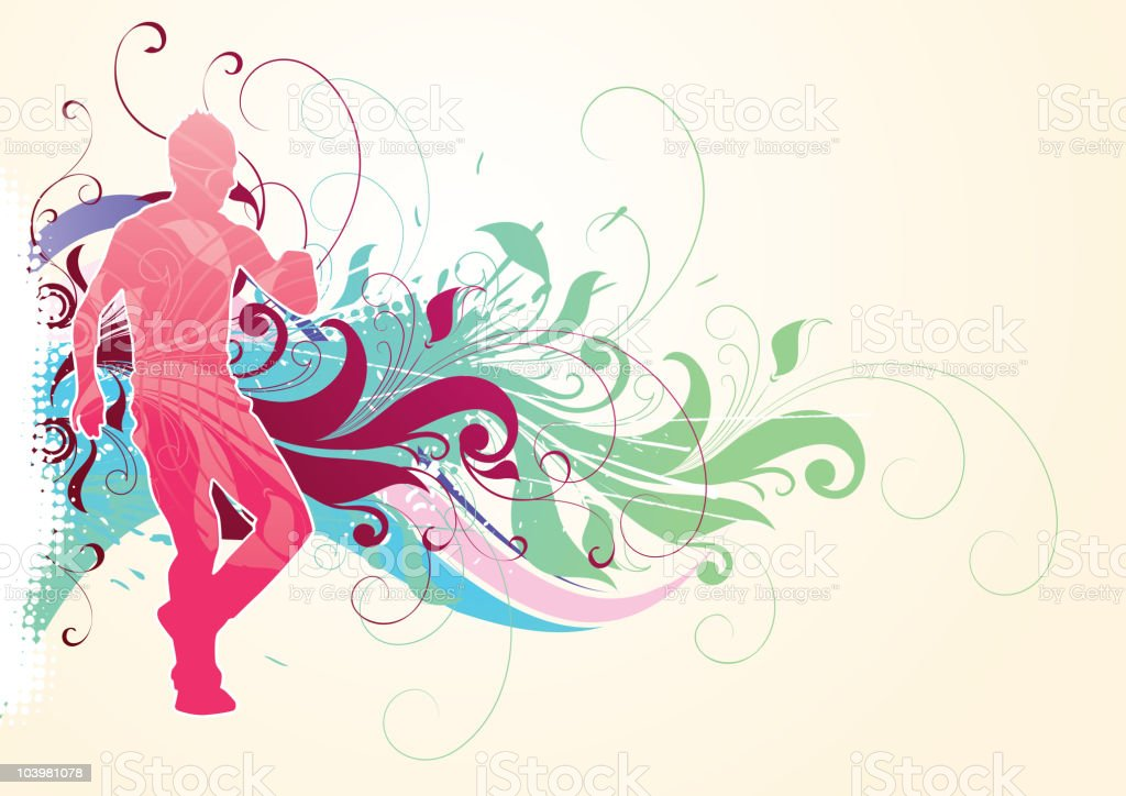 Abstract dances royalty-free stock vector art