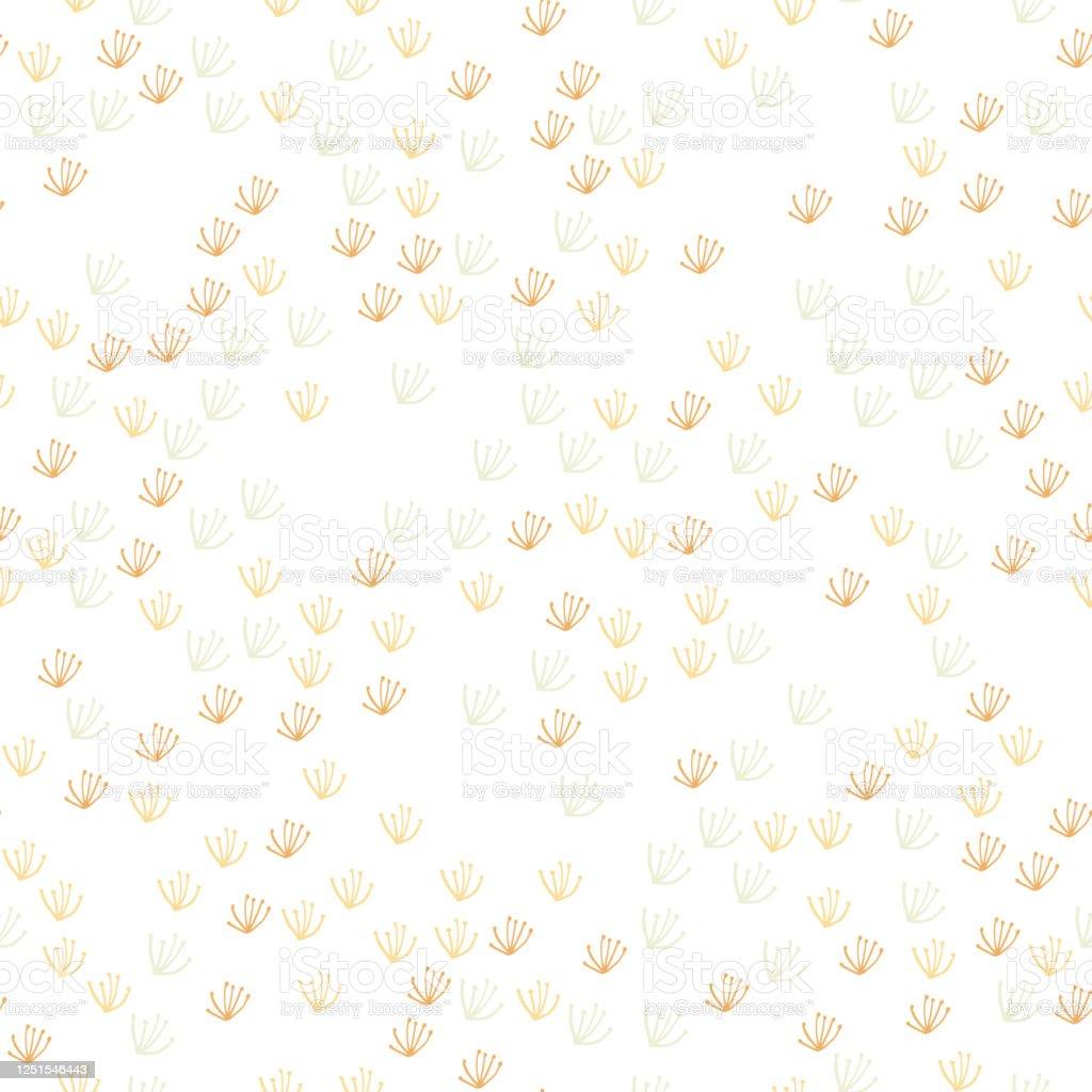 抽象的なタンポポ花は白い背景にシームレスなパターンかわいいオーガニック壁紙シンプルなスタイル いたずら書きのベクターアート素材や画像を多数ご用意 Istock