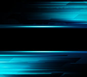 Vector Abstract dark background with blue color light